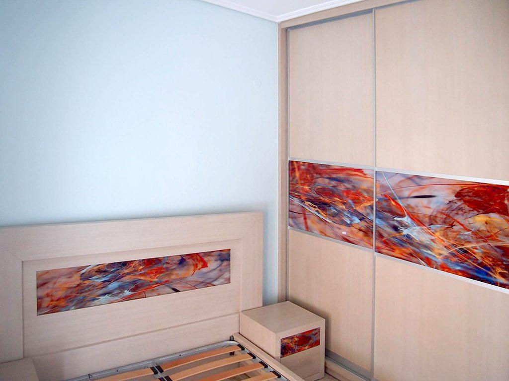 Ψηφιακή εκτύπωση επίπλων κρεβατοκάμαρας με θέμα Abstract